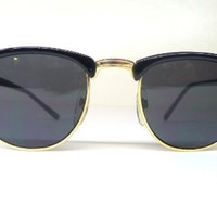 MJ Eyewear JFK Clubmaster Sunglasses - Black - Worn By Malcolm X