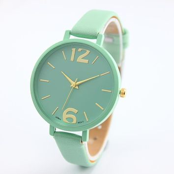 Watch Women Watches Geneva Reloj Mujer Relogio Feminino Famous Brands Big Dial Analog Elegant Clock Girls