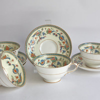 Paragon Tea Cup Set for 4, Jacobean Fine Bone China