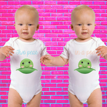 Two Peas in a Pod | Gerber Onesuit ® Twin Set