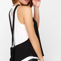 Strong Opposition Black and White Top