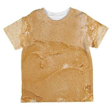 Chenier Halloween Peanut Butter PB Sandwich Costume All Over Toddler T Shirt
