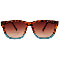GYPSY WARRIOR - Two Tone Turquoise Sunglasses