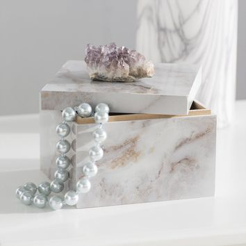 Natural Geode and Composite Decorative Box