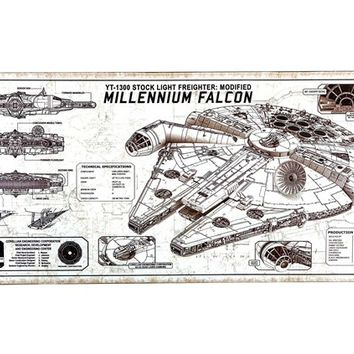 Millennium Falcon Embossed Tin Sign | Shop Hobby Lobby