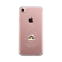 Snowing House Winter Phone Case Cute Clear Phonecase
