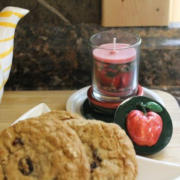 Red Apple Scented Candle Holder and Snuffer