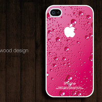 pink water-drop iphone case design iphone 4 case iphone 4s case iphone 4 cover unique case