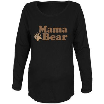 LMFCY8 Mother's Day Mama Bear Maternity Soft Long Sleeve T Shirt