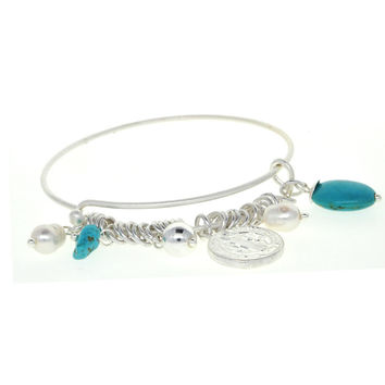 Dear Deer Cross&Jecus Adjustable Wire Bangle Bracelet