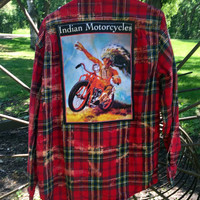 Men's Size Large Motorcycle Flannel