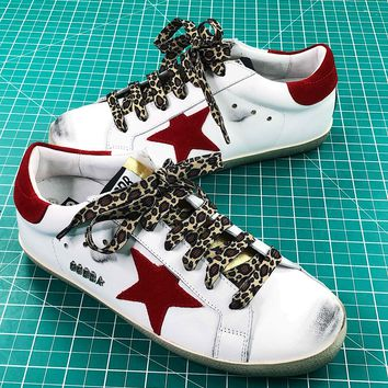 Ggdb Golden Goose Uomo Donna White Red Sneakers Shoes - Best Online Sale