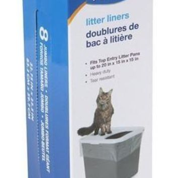 Petmate Top Entry Cat Litter Pan Liners 8 count