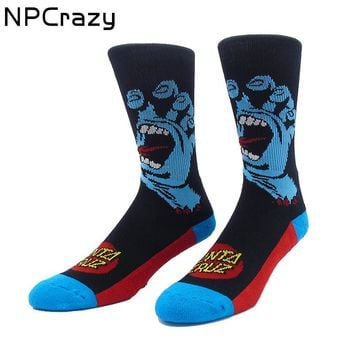 Screaming Hand Basketball Socks Classic Santa Cruz Crew Skateboard Socks Cotton Terry Sport Meias