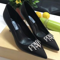 Prada Women Fashion Casual High Heels Shoes-2