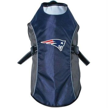 DCCKT9W New England Patriots Water Resistant Reflective Pet Jacket