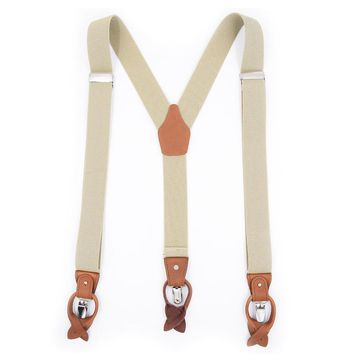 Leather Buttonhole Suspenders