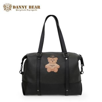 DANNY BEAR Women Vintage Leather Handbags Notebook Shoulder Bags For Men Teenager Girl Fashion Summer Travel Handbag Bolso Bolsa