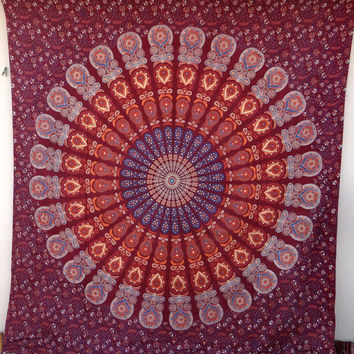 Mandala Tapestries Tapestry Wall Hanging Dorm Decor bedspread feather bedsheet