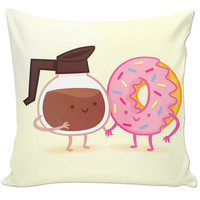 Donut & Coffee Pillow