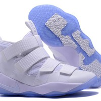 Nike LeBron Soldier 11 EP White Basketball Shoes US7-12