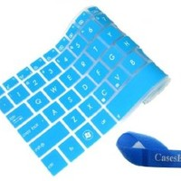 Silicone Laptop Keyboard Cover Skin Protector for Dell Inspiron 15R N5110 M5110 M511R Us Layout (Blue Semitransparent)