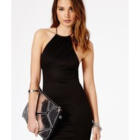 Missguided - Masumi Spaghetti Strap Mini Dress In Black