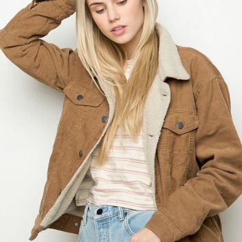 Elisha Fur Corduroy Jacket From Brandy Melville Clothes