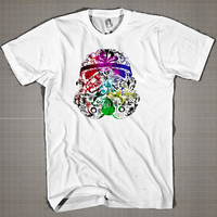 STAR WARS FACE  Mens and Women T-Shirt Available Color Black And White