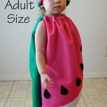 Adult Watermelon Costume Halloween Teen Womens Costume Fruit Food Purim Group Twin