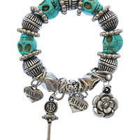Key to My Heart Bracelet in Turquoise – bandbcouture.com