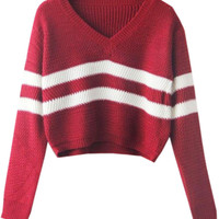 Red Crop Sweater