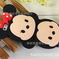 Silicone Phone case  Mickey & Minnie Heads Apple Mobile Phone case Iphone5 5S Iphone6 6S Iphone6 Plus Case