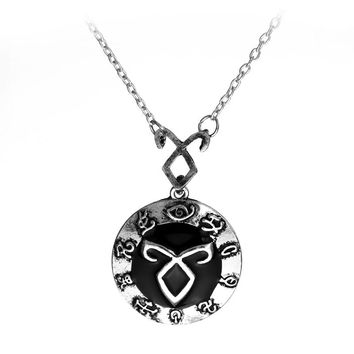 dongsheng The Mortal Instruments City of Bones Necklace Vintage Angelic Power Runes Shadowhunters Pendant Chain Choker Collar-30