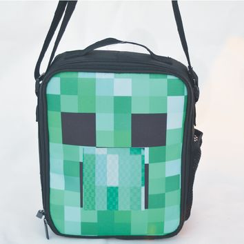 FAIRY SERAPHIM minecraft messenger lunch bag teenagers anime  handbag minecraft lunch box
