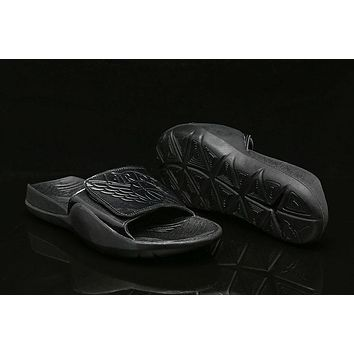 Air Jordan Hydro 7 Slide Sandals Black