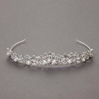 Mid Height Tiara with Pearls and Crystals - David's Bridal