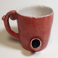 Swirls Coffee Mug Pipe/Wake & Bake