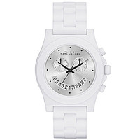 Marc By Marc Jacobs Ladies' Raver White Analog Watch - White