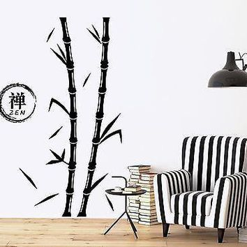 Wall Decal Tree Bamboo Zen Enso Circle Vinyl Sticker Unique Gift (z3639)