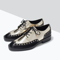Metallic brogue blucher