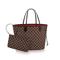 .LOUIS VUITTON Damier Ebene Canvas Neverfull MM  Louis Vuitton Handbag