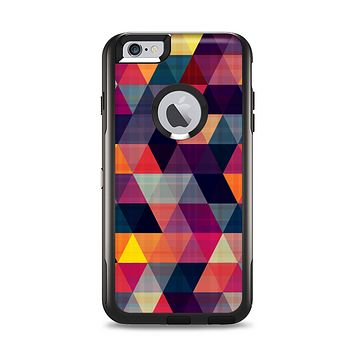 The Vector Triangular Coral & Purple Pattern Apple iPhone 6 Plus Otterbox Commuter Case Skin Set