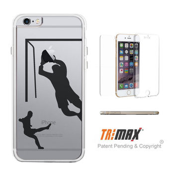 365Printing Tri Max® Soccer Players Clear iPhone Cases TPU Transparent Phone Covers