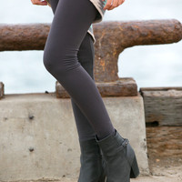 Slimming High Waisted Fleece Leggings - Regular and Plus Size!
