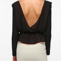 Pins and Needles Zigzag Inset Blouse
