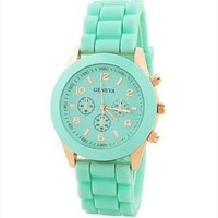 Mint Color Silicone Watch KSVZ007 Mint Green HHM859 from topsales