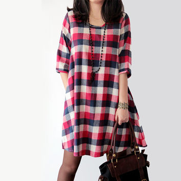 round Collar doll dress bottoming Shirt dress