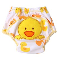 1pcs Baby Waterproof Reusable cotton Diapers Children Cloth Diaper Reusable Nappies Training Pants Washable Diaper Cover