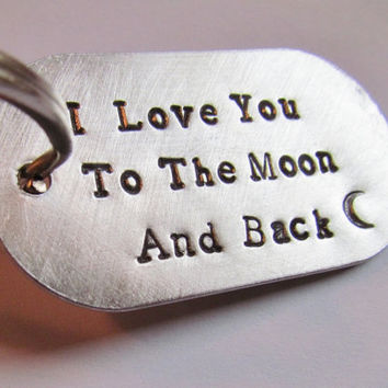 Key Chain Custom I Love You To The Moon and Back by AlwaysAMemory
